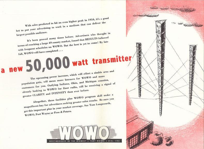 WOWO 50,000 watts