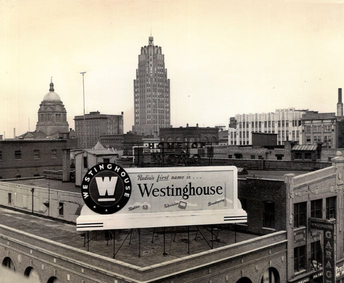 Westinghouse Billboard over Downtown