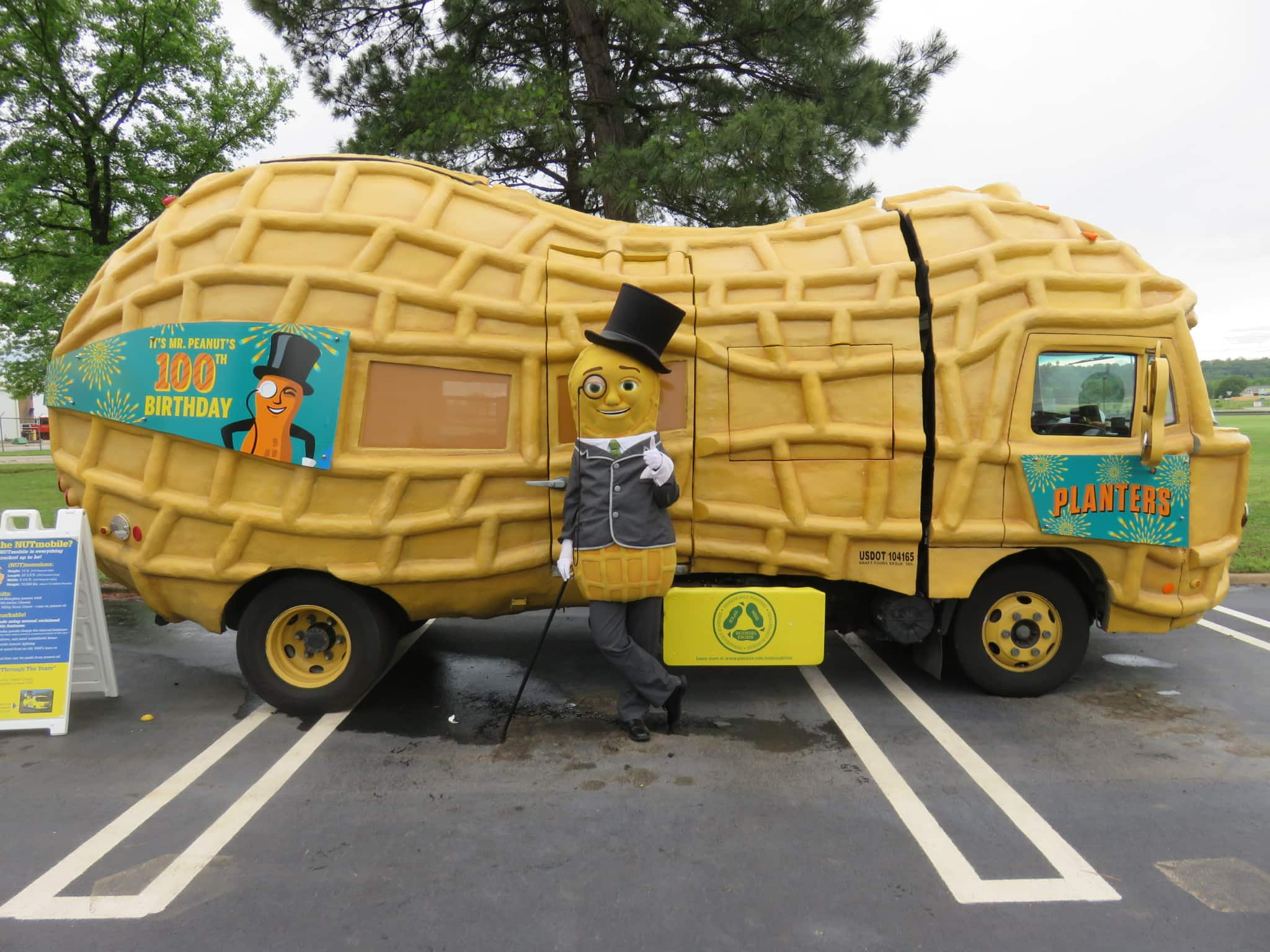 mr peanut will bring nutmobile to fort wayne to celebrate birthday
