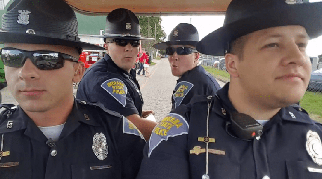 Indiana State Police Troopers' lip sync video goes viral