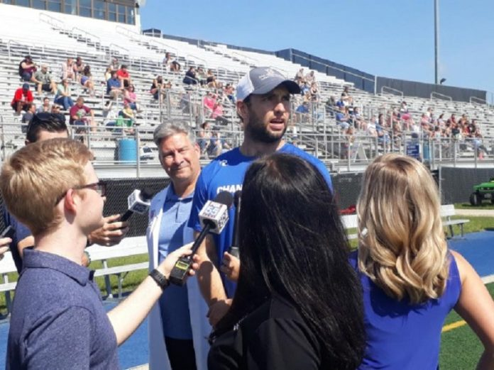 Andrew Luck visits Fort Wayne for Change the Play camp